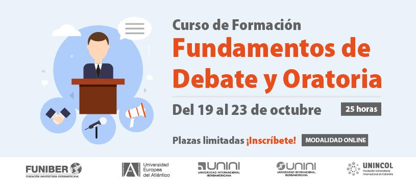 Próximo curso de Formación sobre Fundamentos de Debate y Oratoria